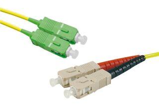 Jarretière optique duplex monomode OS2 9/125 SC-APC/ST-UPC j