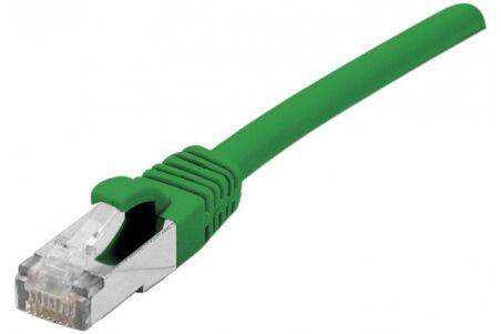 Cordon RJ45 catégorie 6A S/FTP LSOH snagless vert - 5 m