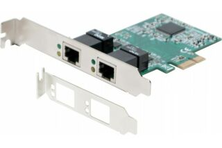 Carte PCIe 1x DOUBLE RJ-45 Gigabit + Low Profile