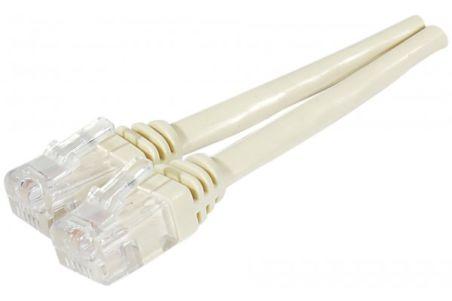 Cable ADSL 2+ cordon Torsadé avec connecteur RJ11 - 5 m ivoire