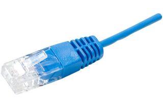 Cordon téléphonique RJ45 / RJ45 UTP 1 paire 4/5 bleu - 1 m