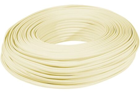 Câble méplat RJ ivoire 4 conducteurs - rouleau de 100 m
