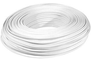 Câble méplat RJ ivoire 8 conducteurs - rouleau de 100 m