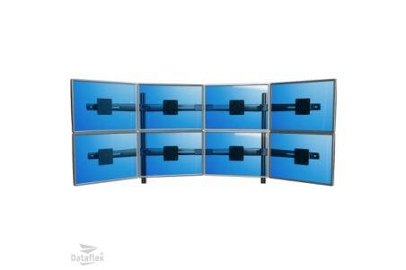 DATAFLEX Support de bureau Viewmaster 53843 - 8 écrans