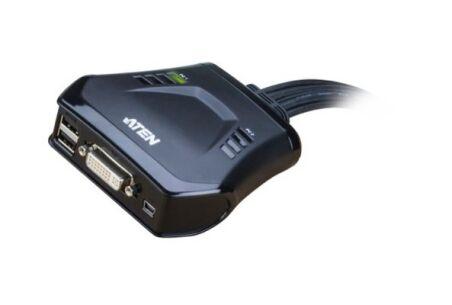 Aten CS22D switch KVM DVI/USB avec télécommande