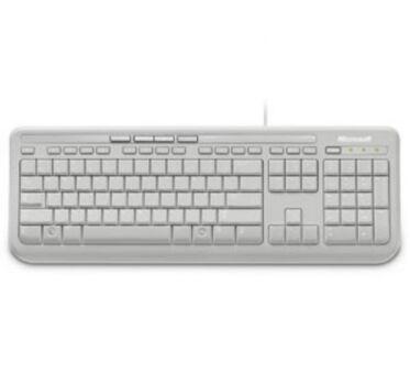 MICROSOFT Clavier Wired Keyboard 600 - Blanc