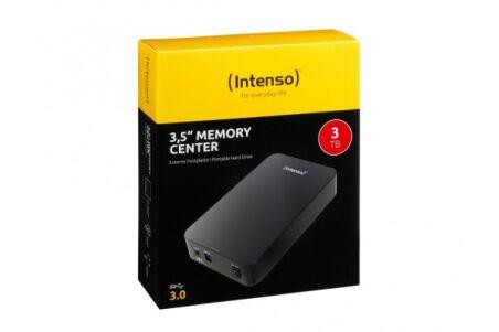 INTENSO Disque Dur Externe 3.5'' Memory Center USB 3.0 - 3To Noir