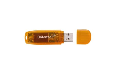 INTENSO Clé USB 2.0 Rainbow Line - 64Go Orange