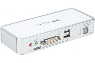 Kvm 2 ports DVI/USB 2.0 + Audio + Cables