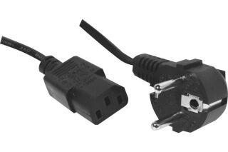 Cordon d'alimentation PC CEE7 / C13 noir - 2,5 m