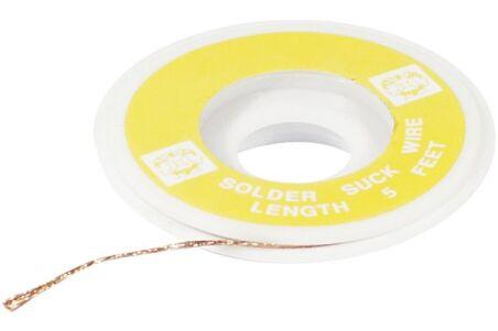 Tresse à dessouder largeur 2 mm - 1,5 m