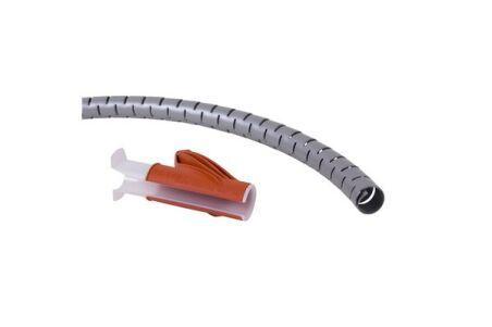 DATAFLEX 33782 CABLE ZIP ARGENT AVEC OUTIL A MAIN 25 mm 3 m