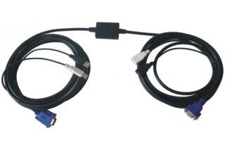 Rallonge booster 10m Ecran VGA + Clavier/souris USB 2.0