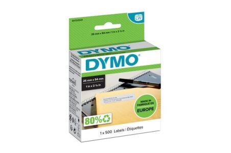 DYMO Rouleau de 500 étiquettes adresse 25 x 54 mm
