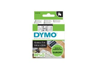 DYMO Ruban D1 - 6 mm noir sur blanc