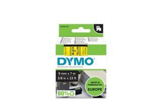 DYMO Ruban D1 - 9 mm noir sur jaune