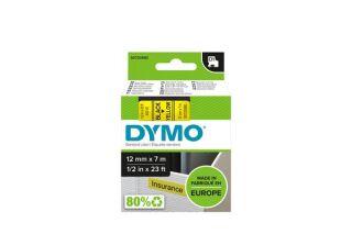 DYMO Ruban D1 - 12 mm noir sur jaune
