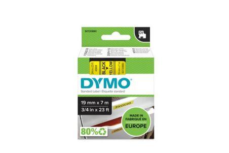 DYMO Ruban D1 - 19 mm noir sur jaune