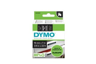 DYMO Ruban D1 - 19 mm blanc sur noir