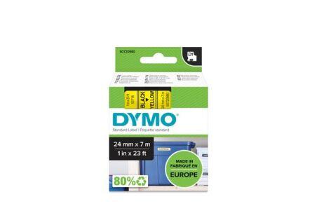 DYMO Ruban D1 - 24 mm noir sur jaune