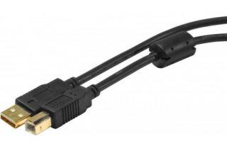 Cordon USB 2.0 type AB M/M avec ferrite  - 1,80m