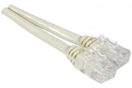 Cable ADSL 2+ cordonTorsadé avec connecteur RJ11 - 20 m ivoire