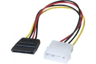 Adaptateur d'alimentation Molex vers SATA - 20 cm