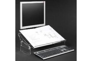 DATAFLEX Porte copie/doc. Acrylique - Hauteur réglable 49410