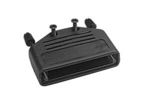 Capot DB37 - plastique noir à charnière à vis longues
