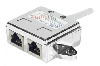 Eclateur de port RJ45 blindé LAN+LAN