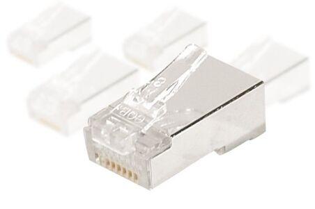 CONNECTEUR 8P8C RJ45 CAT6 STP - LOT DE 10