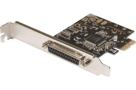 Carte PCI-Express 1X - 1 port Imprimante Parallèle DB25