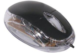 Mini souris optique lumineuse noire USB