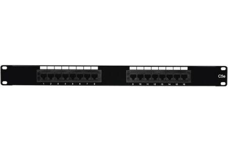 Panneau complet CAT5E UTP - 16 ports