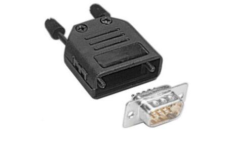 Kit connecteur à souder + capot - SUBD9 M