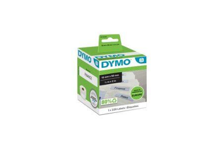 Rouleau dymo 220 etiquettes dossier 50x12MM pour labelwriter