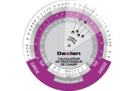 disque calculateur profondeur champ pour cameras