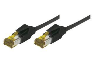 Cordon RJ45 sur câble catégorie 7 S/FTP LSOH snagless noir -