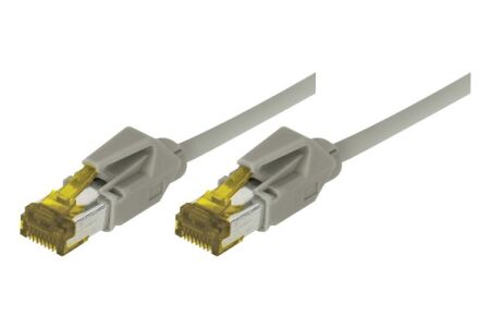 Cordon RJ45 sur câble catégorie 7 S/FTP LSOH snagless gris -