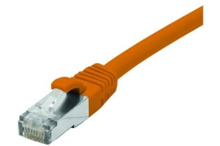 Cordon RJ45 catégorie 6A F/UTP LSOH snagless orange - 0,3 m