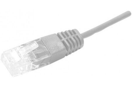 Cordon utp 1P gris RJ45/RJ45 telephone 100 ohms - 0,50M
