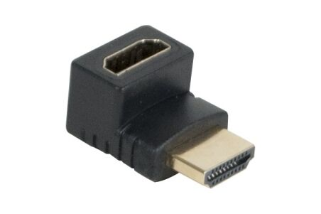 Adaptateur hdmi or m/f coude 90° - modele b