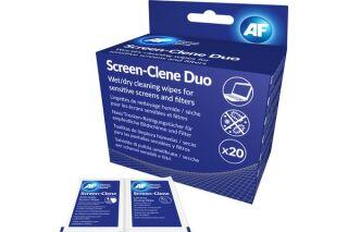 AF Boîte de 20 lingettes humides/séches pour écran LCD