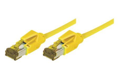 Cordon RJ45 sur câble catégorie 7 S/FTP LSOH snagless jaune