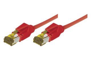 Cordon RJ45 sur câble catégorie 7 S/FTP LSOH snagless rouge