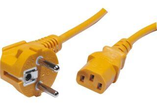 Cordon d'alimentation PC CEE7 / C13 orange - 0,6 m