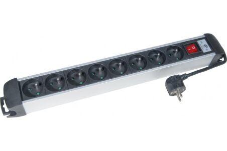 Multiprise 8 prises avec interrupteur noire