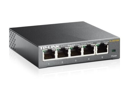 Tp-link TL-SG105E switch metal 5 ports Gigabit IGMP+Vlan+QoS