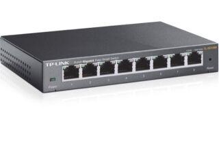 Tp-link TL-SG108E switch metal 8 ports Gigabit IGMP+Vlan+QoS