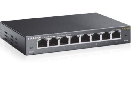 Tp-link TL-SG108E switch metal 8 ports Gigabit IGMP+Vlan+QoS